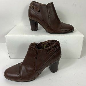 Clarks Artisan Leather Ankle Boots Wm Sz 6 Booties